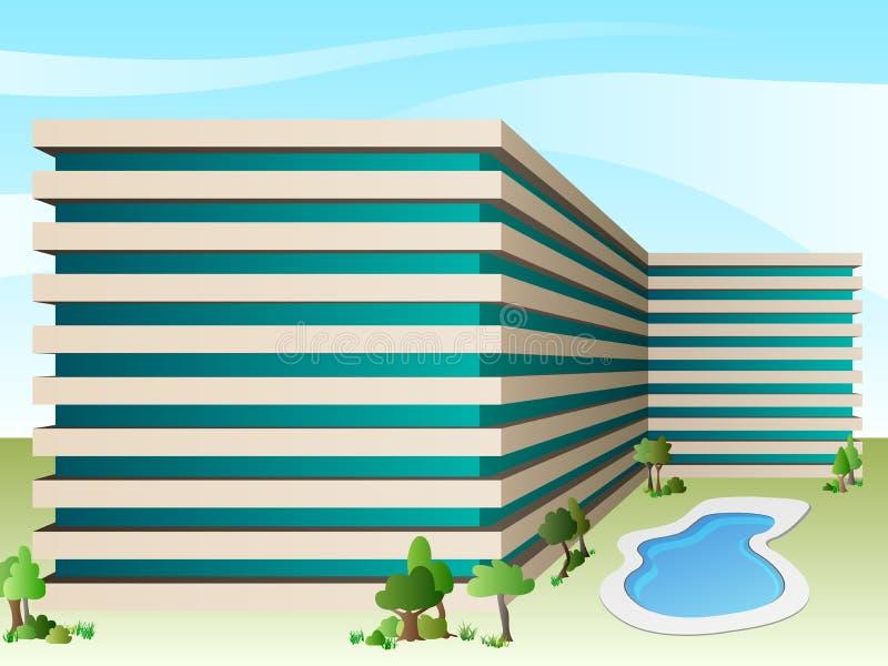 Διανυσματικό ξενοδοχείο διανυσματική απεικόνιση