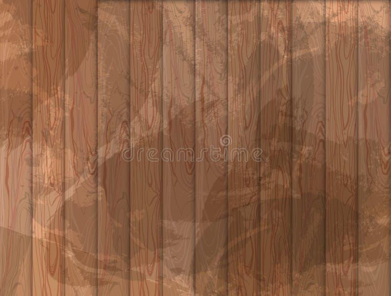 Διανυσματικό ξύλινο υπόβαθρο Grunge, ξύλινη σύσταση, ανοικτό καφέ χρώμα ελεύθερη απεικόνιση δικαιώματος