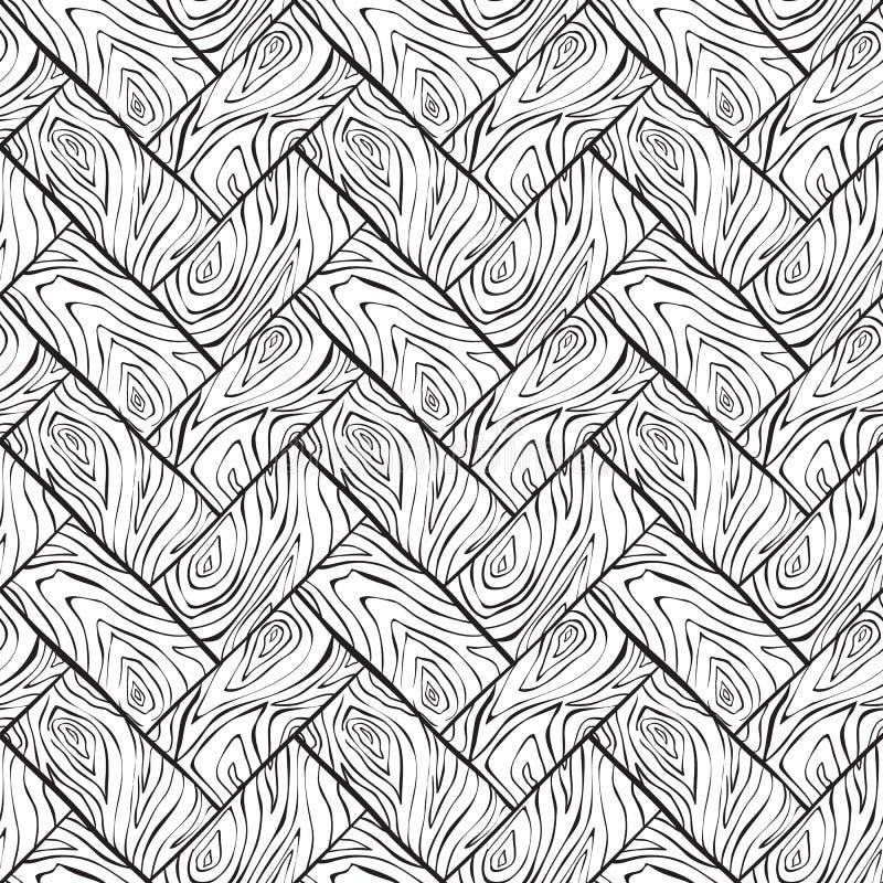 Διανυσματικό ξύλινο άνευ ραφής υπόβαθρο σύστασης απεικόνιση αποθεμάτων