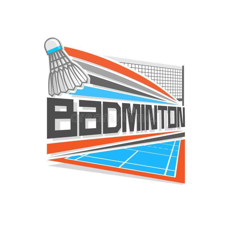 Διανυσματικό λογότυπο απεικόνισης για το μπάντμιντον απεικόνιση αποθεμάτων