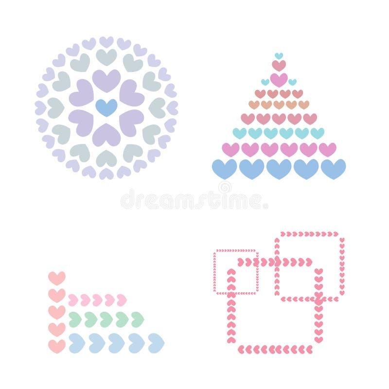 Διανυσματικό λογότυπο αριθμού καρδιών διανυσματική απεικόνιση