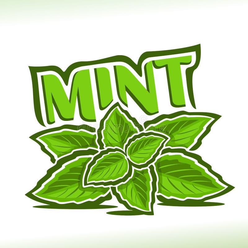 Διανυσματικό λογότυπο για το χορτάρι μεντών διανυσματική απεικόνιση