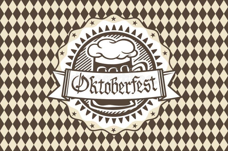 Διανυσματικό λογότυπο για Oktoberfest στο μπαρ ή το φραγμό κατά τη διάρκεια του φεστιβάλ, κούπα μπύρας ελεύθερη απεικόνιση δικαιώματος