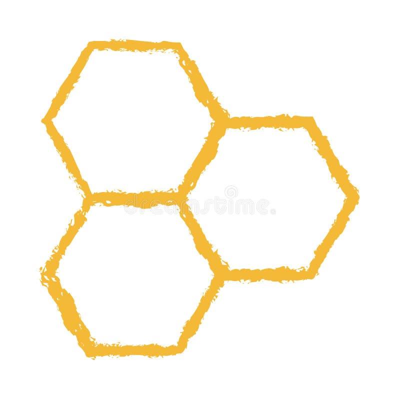 Διανυσματικό λογότυπο εικονιδίων χτενών μελισσών σκονισμένο στοκ εικόνα με δικαίωμα ελεύθερης χρήσης