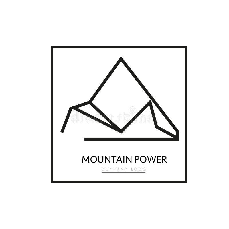 Διανυσματικό λογότυπο επιχείρησης βουνών τριγώνων στοκ φωτογραφία