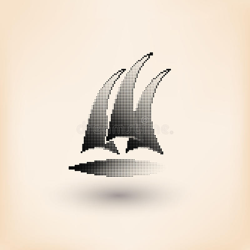 Διανυσματικό λογότυπο λεσχών γιοτ Ημίτονος τυποποιημένος απεικόνιση αποθεμάτων
