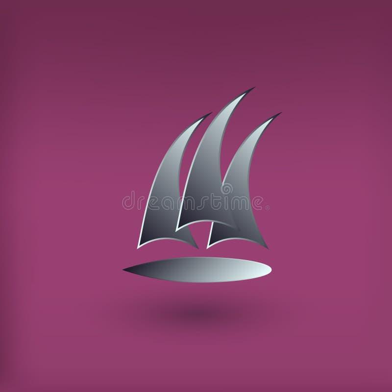 Διανυσματικό λογότυπο λεσχών γιοτ Σύγχρονο ύφος απεικόνιση αποθεμάτων