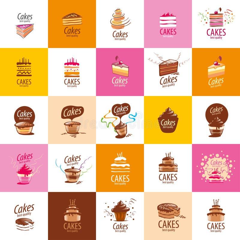 Διανυσματικό λογότυπο κέικ απεικόνιση αποθεμάτων