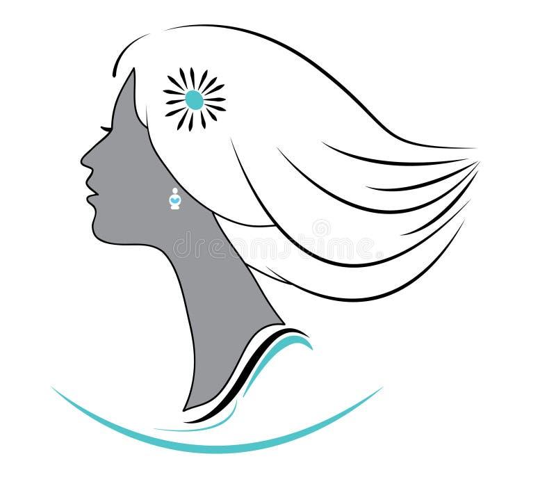 Διανυσματικό λογότυπο κοριτσιών στοκ φωτογραφία