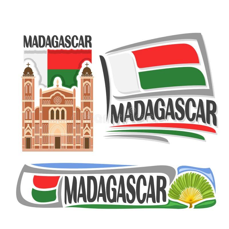 Διανυσματικό λογότυπο Μαδαγασκάρη ελεύθερη απεικόνιση δικαιώματος