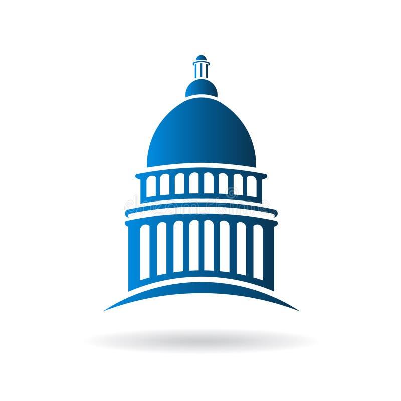 Διανυσματικό λογότυπο οικοδόμησης Capitol απεικόνιση αποθεμάτων