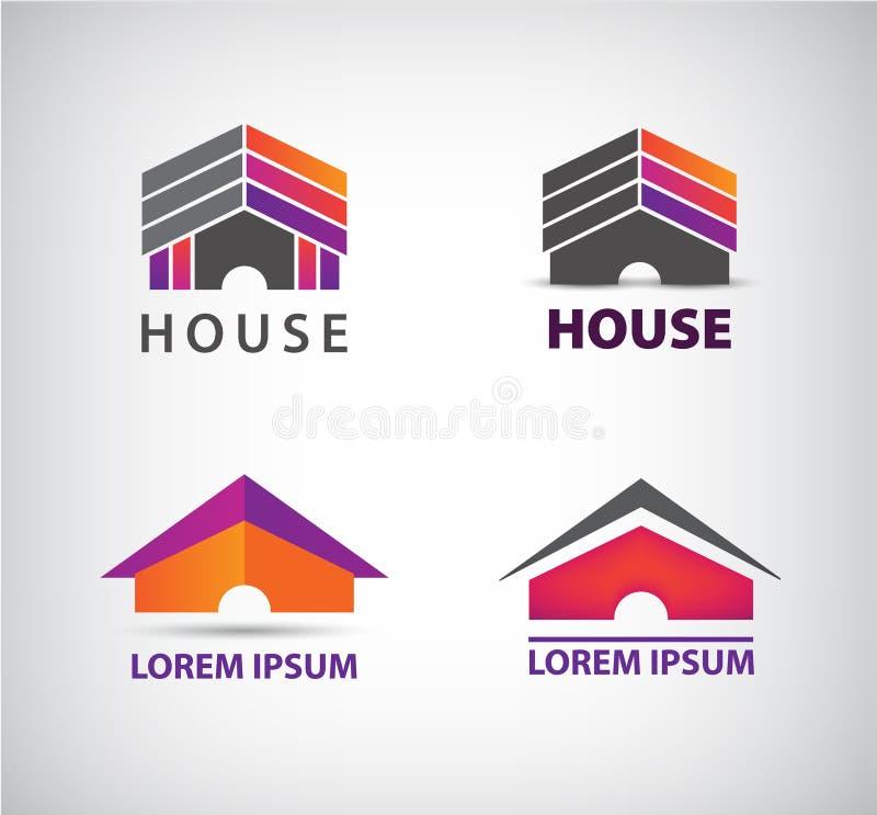 Διανυσματικό λογότυπο σπιτιών για την επιχείρηση ελεύθερη απεικόνιση δικαιώματος