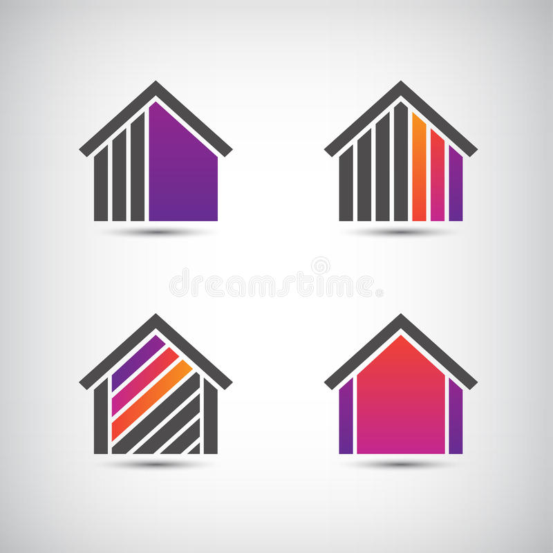 Διανυσματικό λογότυπο σπιτιών για την επιχείρηση απεικόνιση αποθεμάτων