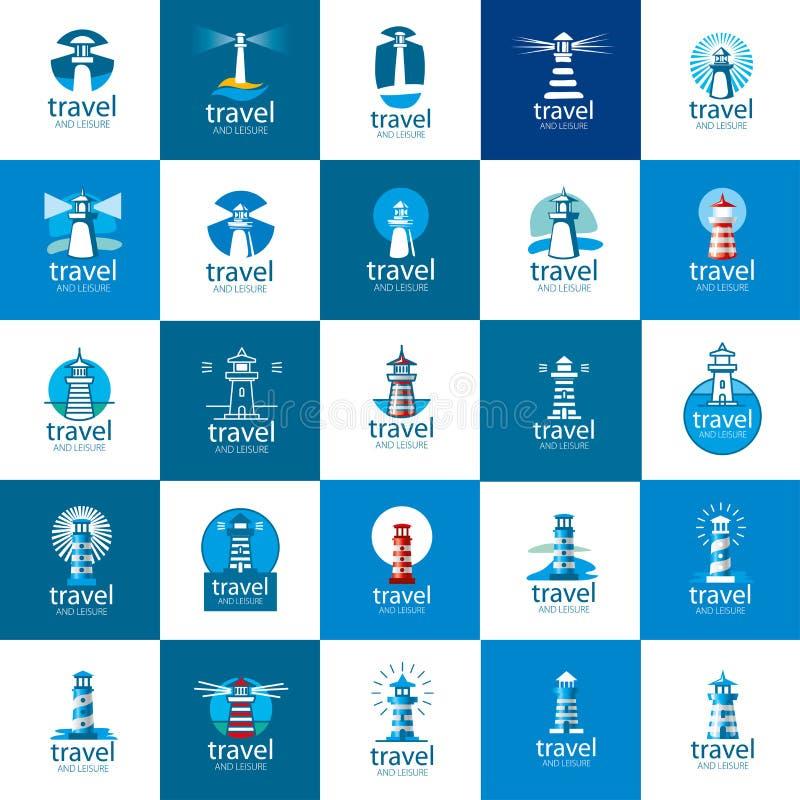 Διανυσματικό λογότυπο φάρων απεικόνιση αποθεμάτων