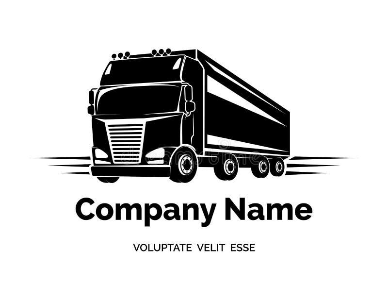 Διανυσματικό λογότυπο φορτηγών φορτίου ελεύθερη απεικόνιση δικαιώματος