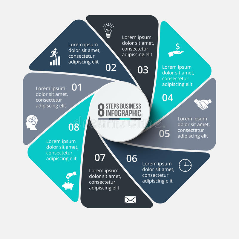 Διανυσματικό οκτάγωνο infographic ελεύθερη απεικόνιση δικαιώματος