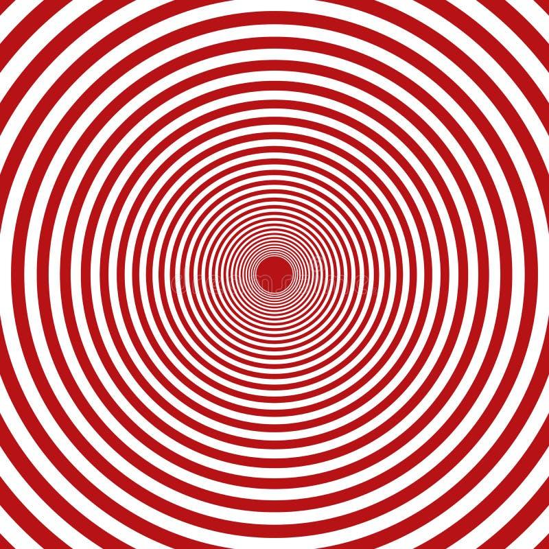 Διανυσματικό ομόκεντρο κόκκινο και άσπρο υπόβαθρο στοιχείων κύκλων κύκλων διανυσματική απεικόνιση