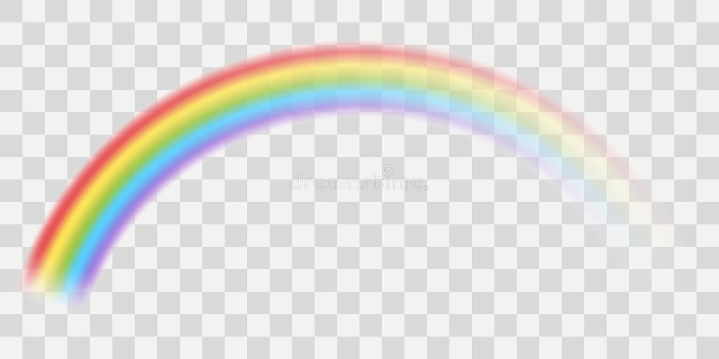 Διανυσματικό ουράνιο τόξο ελεύθερη απεικόνιση δικαιώματος