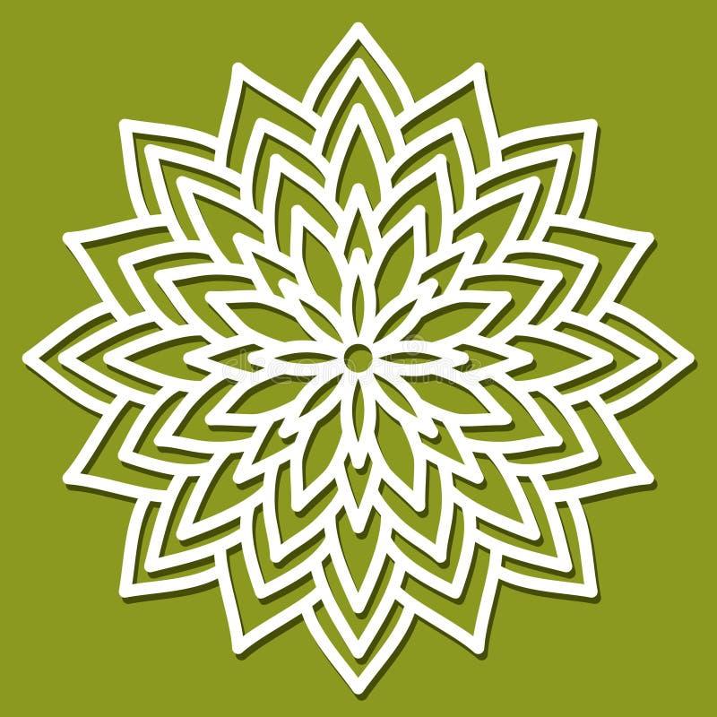 Διανυσματικό λουλούδι διάτρητων Πρότυπο για το εσωτερικό σχέδιο, σχεδιαγράμματα wed διανυσματική απεικόνιση