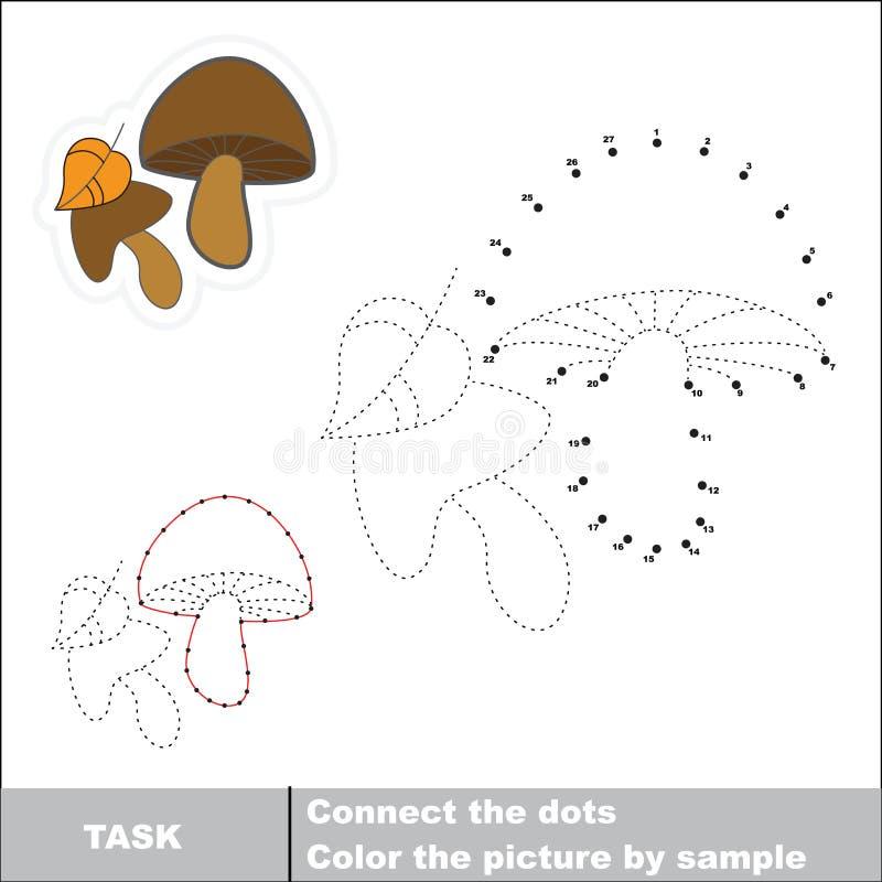 Διανυσματικό παιχνίδι αριθμών Μανιτάρι που επισημαίνεται απεικόνιση αποθεμάτων