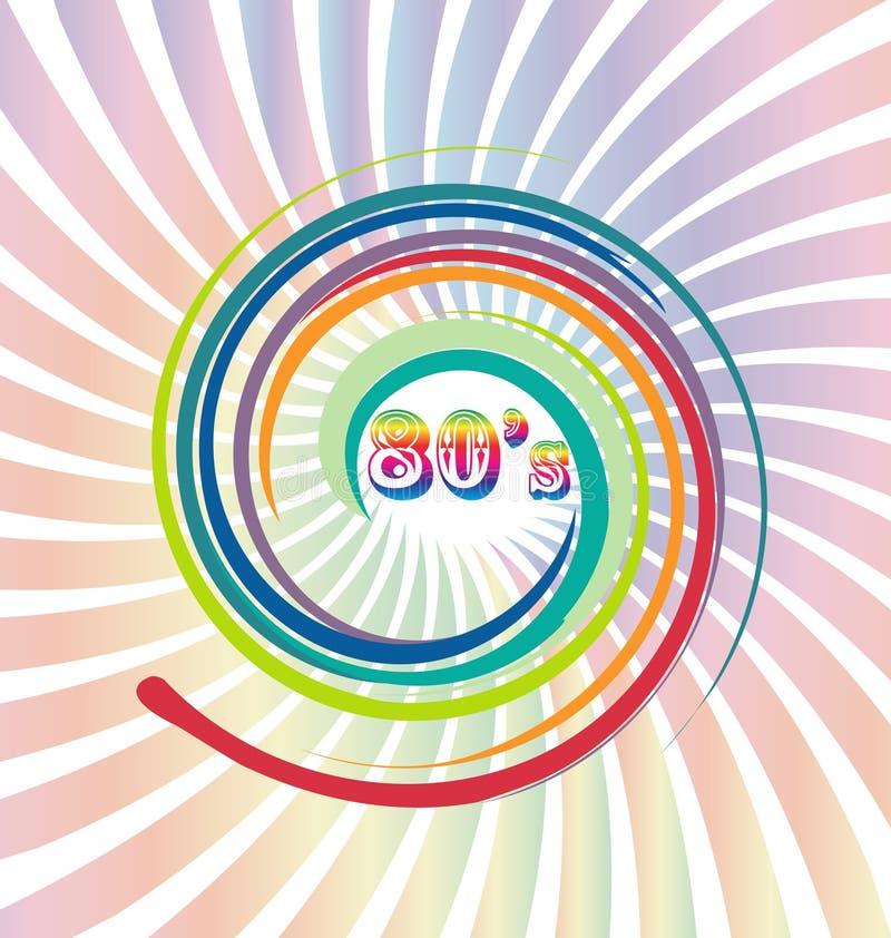 διανυσματικό παλαιό αναδρομικό εκλεκτής ποιότητας υπόβαθρο της δεκαετίας του '80 ελεύθερη απεικόνιση δικαιώματος