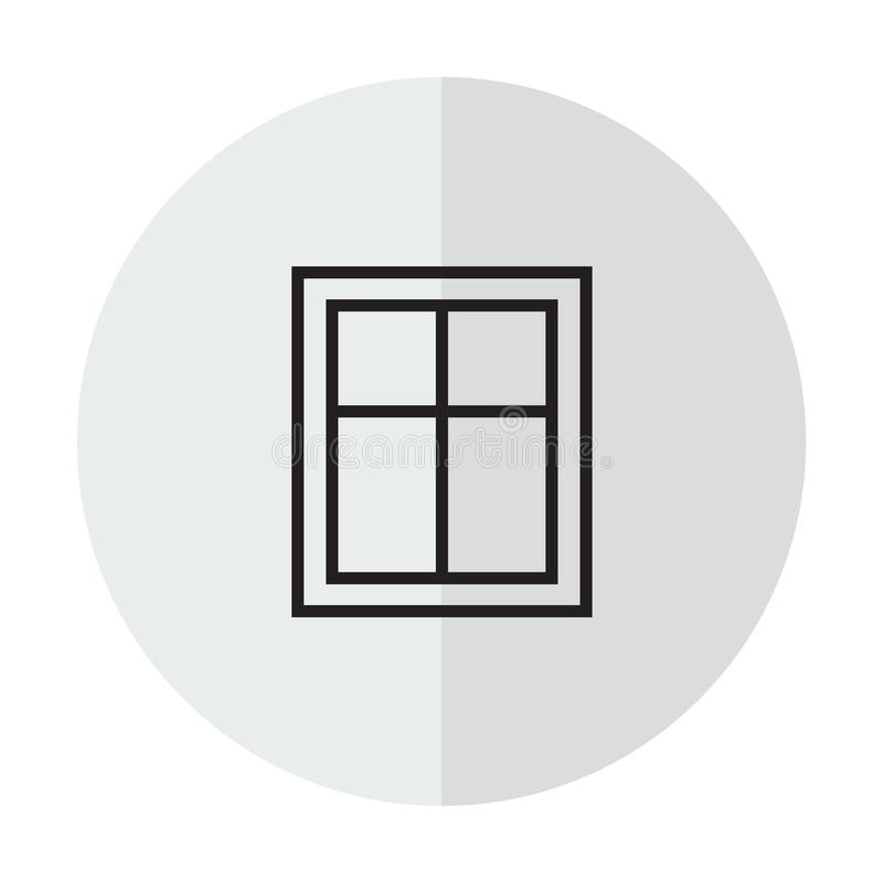 Διανυσματικό παράθυρο εικονιδίων διανυσματική απεικόνιση
