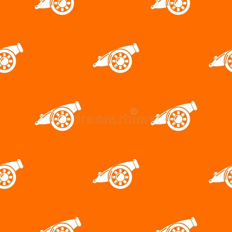 Διανυσματικό πορτοκάλι σχεδίων πυροβόλων πυροβολικού διανυσματική απεικόνιση
