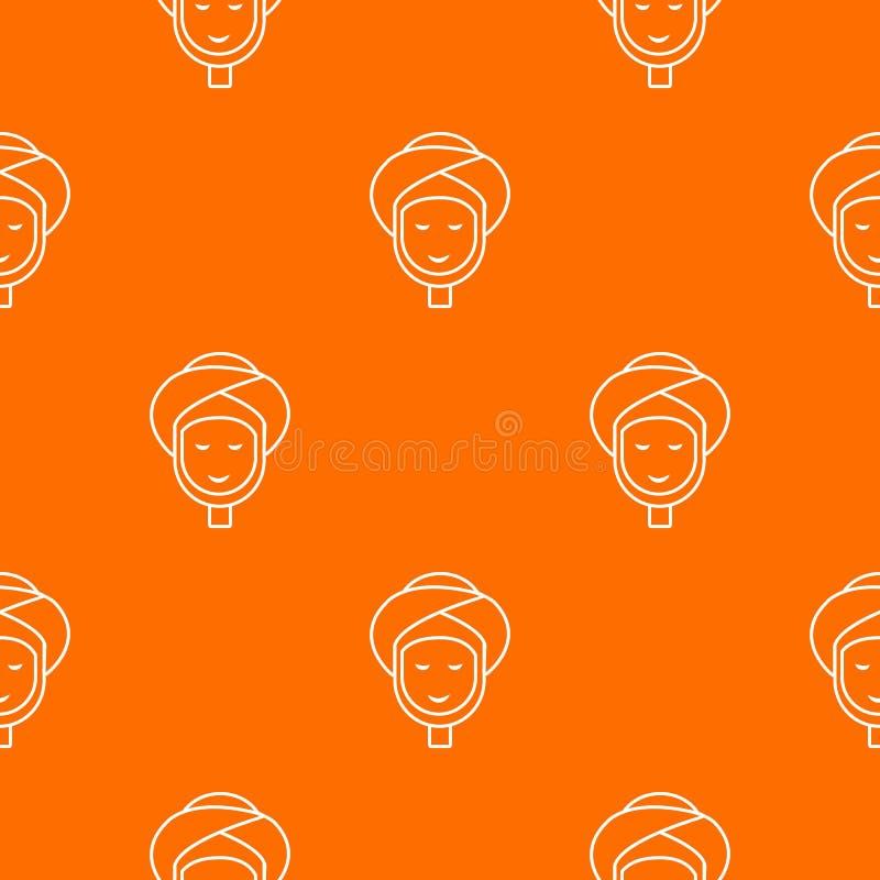 Διανυσματικό πορτοκάλι σχεδίων Facial spa επεξεργασίας ελεύθερη απεικόνιση δικαιώματος
