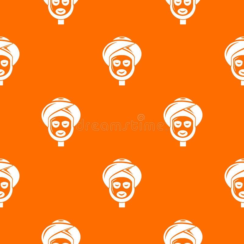 Διανυσματικό πορτοκάλι σχεδίων Facial spa επεξεργασίας απεικόνιση αποθεμάτων