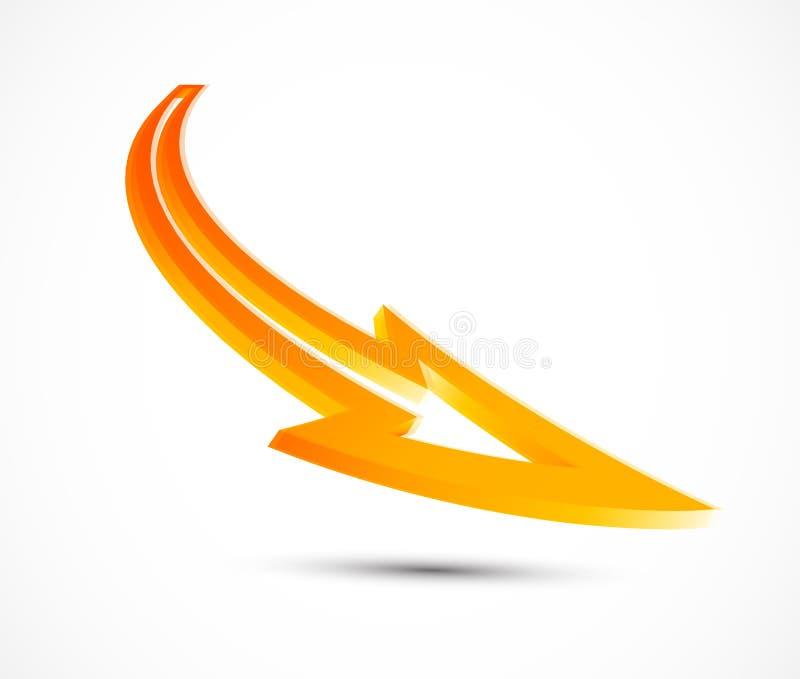 Διανυσματικό πορτοκαλί βέλος απεικόνιση αποθεμάτων