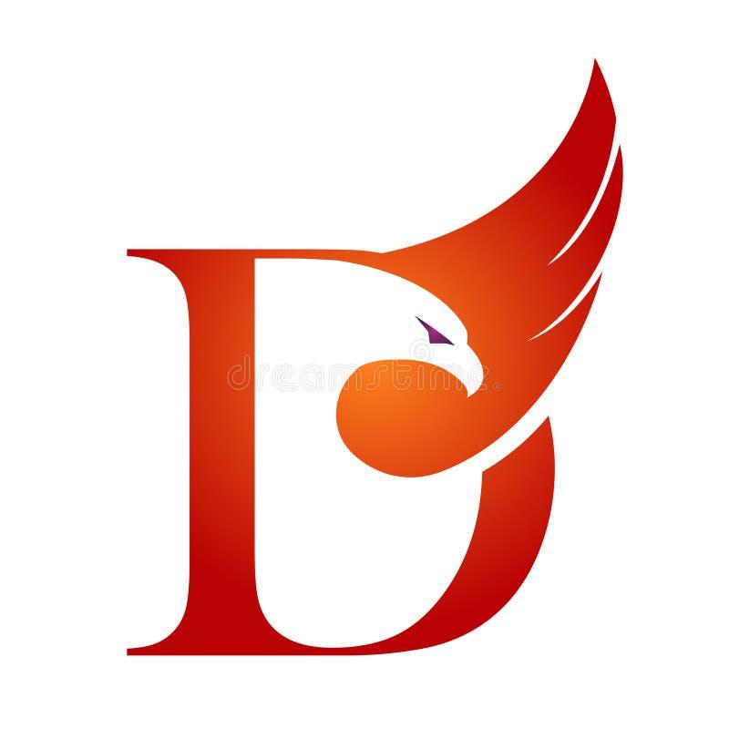 Διανυσματικό πορτοκαλί λογότυπο Δ γερακιών αρχικό ελεύθερη απεικόνιση δικαιώματος