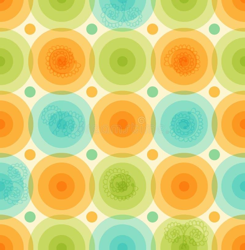 Διανυσματικό πολύχρωμο σχέδιο υποβάθρου με το στιλπνό γεωμετρικό ζωηρόχρωμο πρότυπο κύκλων για τις ταπετσαρίες, καλύψεις ελεύθερη απεικόνιση δικαιώματος