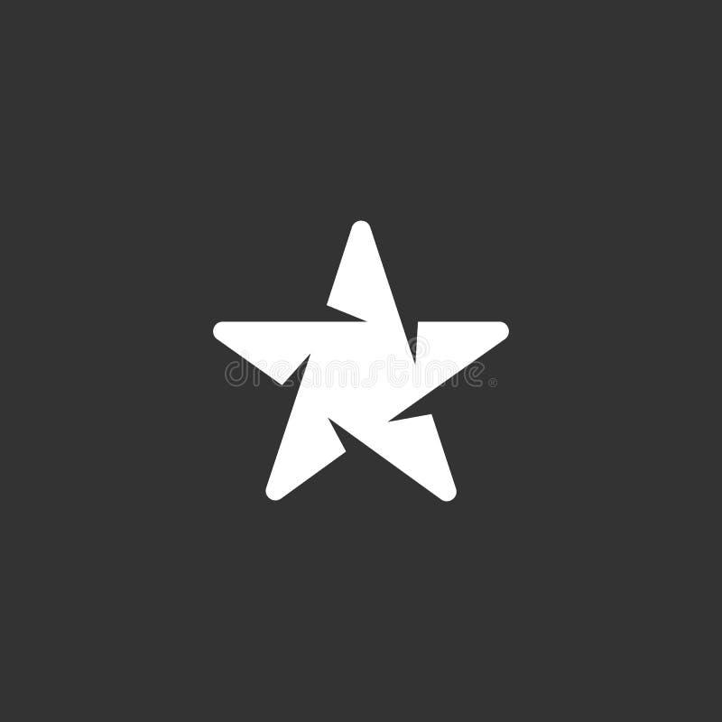 Διανυσματικό πράσινο αστέρι γυαλιού Διανυσματικό στοιχείο λογότυπων για το πρότυπο στοκ φωτογραφία