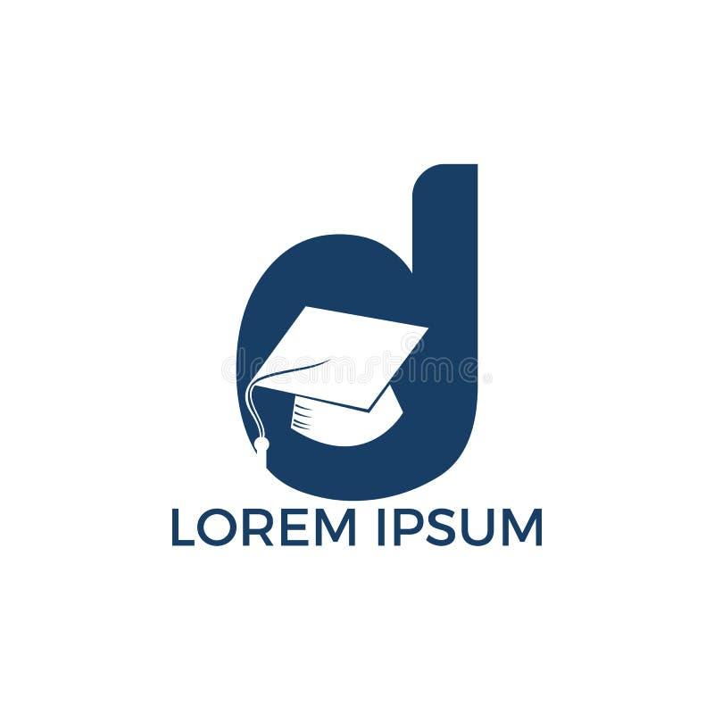Διανυσματικό πρότυπο απεικόνισης λογότυπων εκπαίδευσης γραμμάτων Δ διανυσματική απεικόνιση
