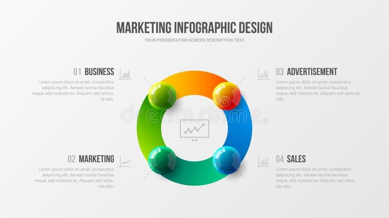 Διανυσματικό πρότυπο απεικόνισης παρουσίασης analytics εξαιρετικής ποιότητας Δημιουργικό σχεδιάγραμμα σχεδίου απεικόνισης επιχειρ διανυσματική απεικόνιση