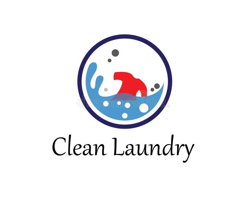 Διανυσματικό πρότυπο εικονιδίων λογότυπων πλυντηρίων ελεύθερη απεικόνιση δικαιώματος