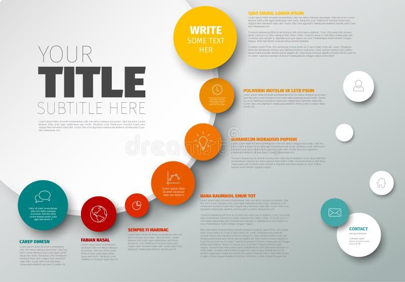 Διανυσματικό πρότυπο εκθέσεων υπόδειξης ως προς το χρόνο Infographic διανυσματική απεικόνιση