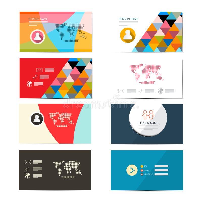Διανυσματικό πρότυπο επαγγελματικών καρτών εγγράφου απεικόνιση αποθεμάτων