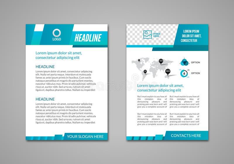 Διανυσματικό πρότυπο επιχειρησιακού σχεδιαγράμματος σχεδίου ιπτάμενων φυλλάδιων, infographic βιβλιάριο ελεύθερη απεικόνιση δικαιώματος