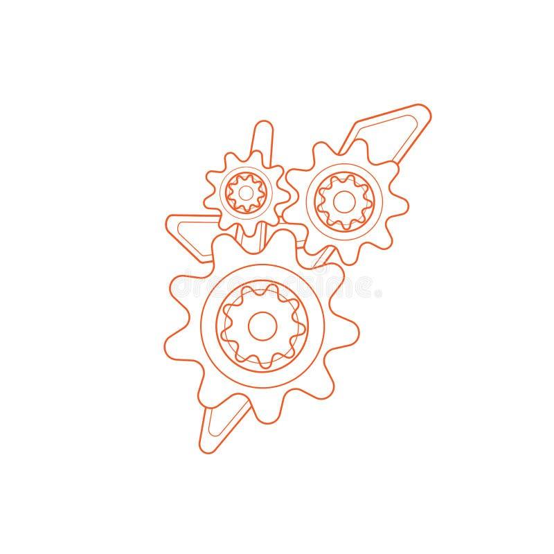Διανυσματικό πρότυπο εργαλείων Ο μηχανισμός του εργαλείου για το λογότυπο στοκ εικόνες με δικαίωμα ελεύθερης χρήσης