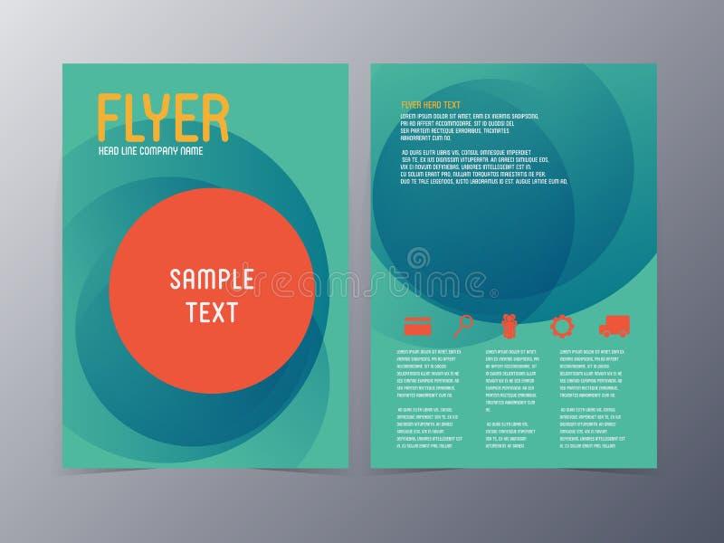 Διανυσματικό πρότυπο ιπτάμενων επιχειρησιακών φυλλάδιων ελεύθερη απεικόνιση δικαιώματος
