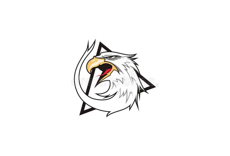 Διανυσματικό πρότυπο λογότυπων αετών διανυσματική απεικόνιση