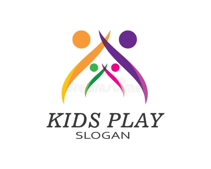 διανυσματικό πρότυπο λογότυπων παιχνιδιού παιδιών διανυσματική απεικόνιση