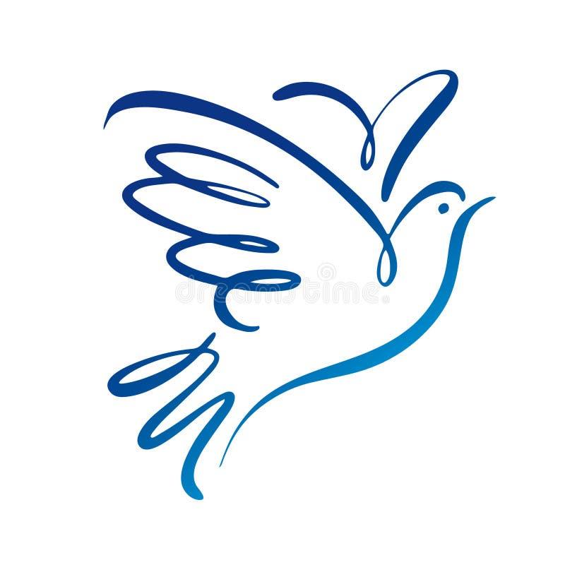 Διανυσματικό πρότυπο λογότυπων περιστεριών Λογότυπο έννοιας διανυσματική απεικόνιση