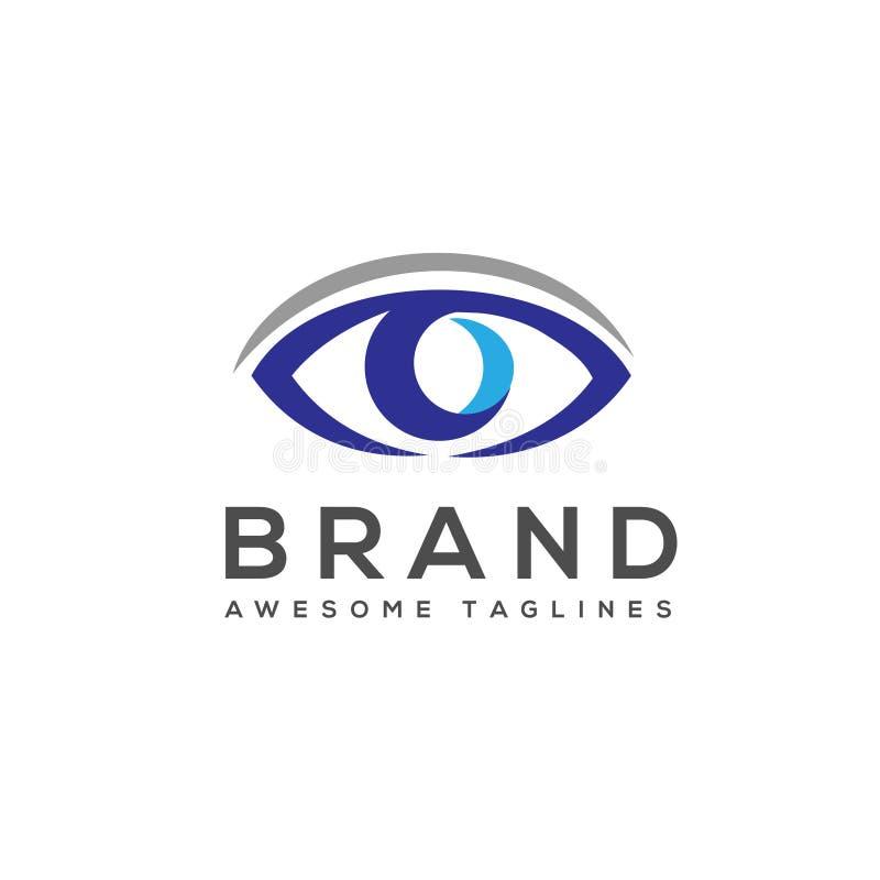 Διανυσματικό πρότυπο λογότυπων προσοχής ματιών ελεύθερη απεικόνιση δικαιώματος