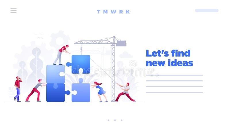 Διανυσματικό πρότυπο σελίδων ιστοχώρου έννοιας επιχειρησιακής ομαδικής εργασίας ελεύθερη απεικόνιση δικαιώματος