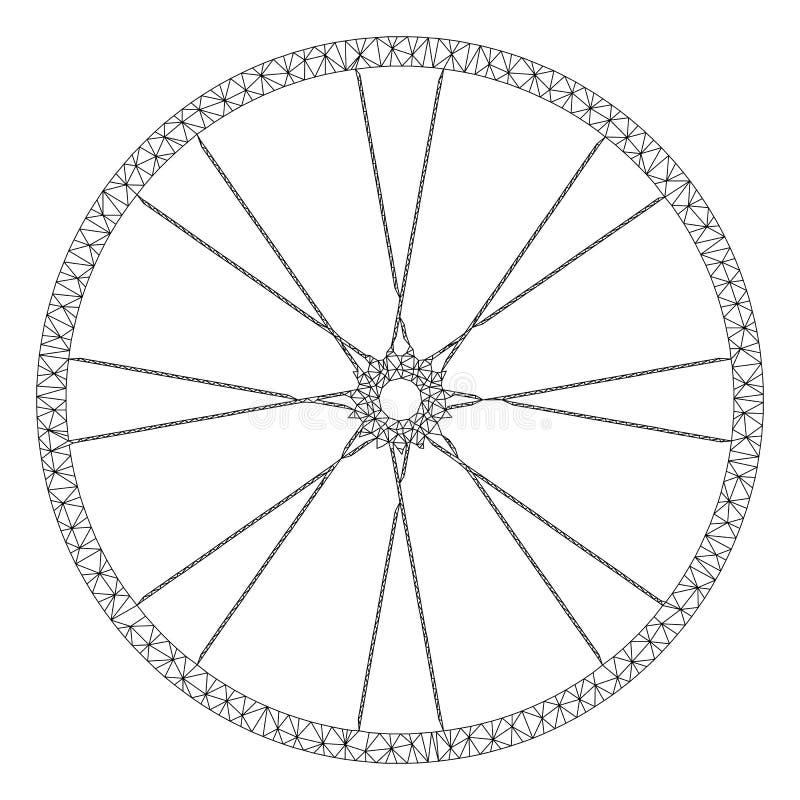 Διανυσματικό πρότυπο σφαγίων πλέγματος ροδών ποδηλάτων απεικόνιση αποθεμάτων