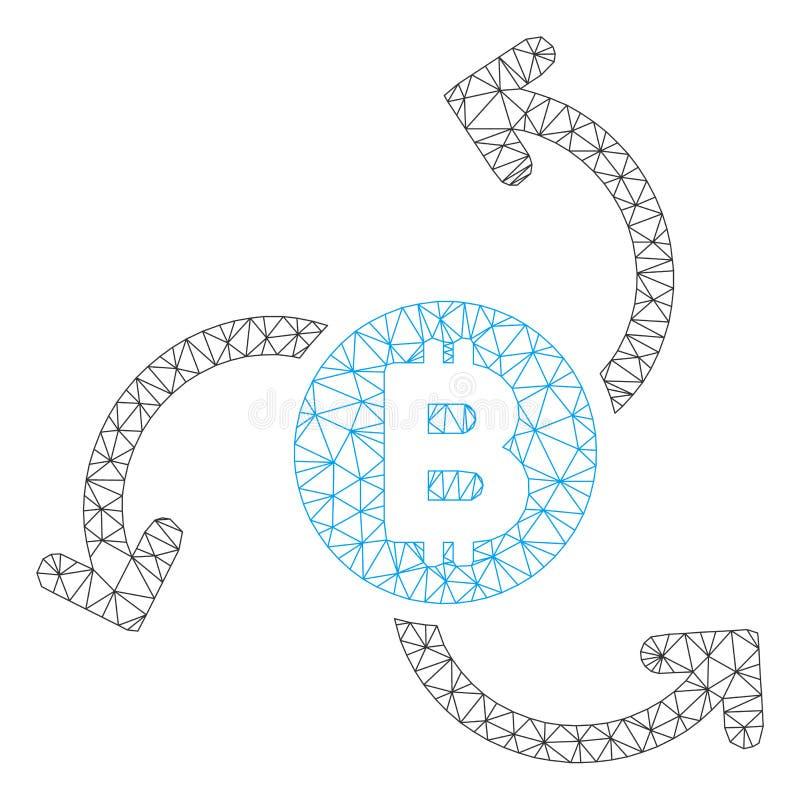 Διανυσματικό πρότυπο σφαγίων πλέγματος στροβίλου πηγής Bitcoin απεικόνιση αποθεμάτων