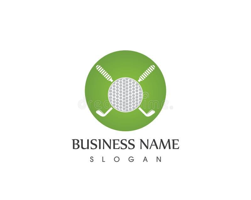 Διανυσματικό πρότυπο σχεδίου λογότυπων αθλητικών εικονιδίων γκολφ απεικόνιση αποθεμάτων