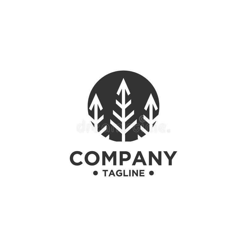 Διανυσματικό πρότυπο σχεδίου λογότυπων δέντρων απεικόνιση αποθεμάτων